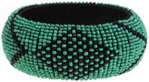 Found by Fab Beaded Bangle Green