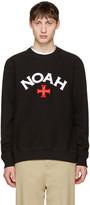 Noah Black Varsity Logo Sweatshirt