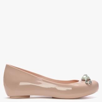 Vivienne Westwood x Melissa Pink Ultragirl Pearl Safety Pin Ballerina Flats