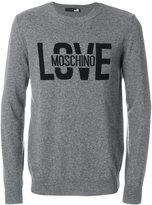 Love Moschino intarsia logo jumper