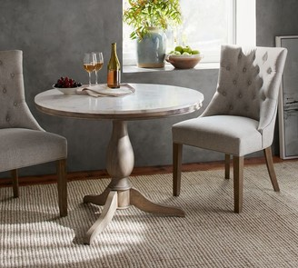 Pottery Barn Alexandra Round Marble Pedestal Dining Table