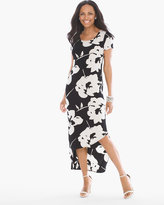Chico's Abstract Floral Asymmetrical Hem Dress