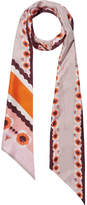 Fendi Reversible Printed Silk-twill Scarf - Pink