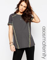 Asos T-Shirt With Embroidered Tape Detail
