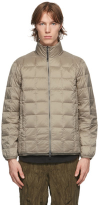 TAION Khaki Down Basic High Neck Puffer Jacket