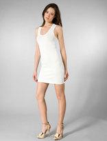 Sleeveless Scoop Neck Racer Back Dress in White