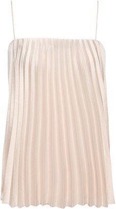 Vince Pleated Satin-crepe Camisole