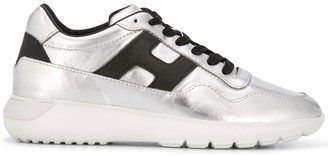 Hogan Metallic Lace-Up Trainers