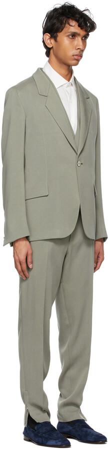 Thumbnail for your product : Ermenegildo Zegna Couture Grey Viscose Three-Piece Suit