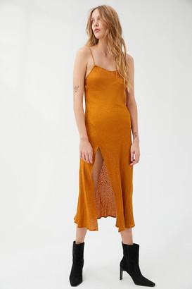 Motel Quinty Animal Print Midi Slip Dress