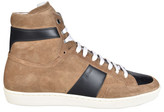 Saint Laurent Court Classic Hi-Top Sneakers