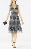 BCBGMAXAZRIA Jovita Geometric Embroidered Dress