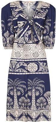 Johanna Ortiz Any Route Goes printed midi dress