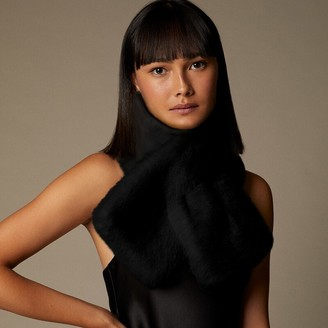 Love & Lore Fur Pull Scarf Through Black