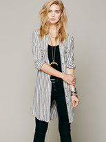 Free People Doublecloth Stripe Buttondown