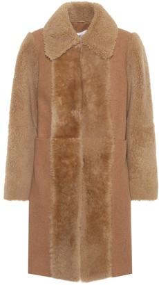 See by Chloe Fur-trimmed wool coat