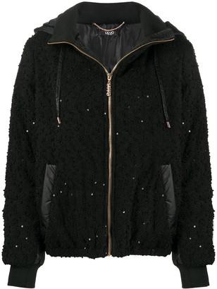 Liu Jo Sequin-Embellished Puffer Jacket