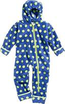 Playshoes Unisex Baby All-in-One Fleeceoverall Dots Overall,9-12 Months (Manufacturer Size:80 cm)