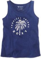 Roxy Tropical Graphic-Print Cotton Tank Top, Big Girls (7-16)