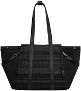 Skip Hop Black Granite Leather-Trim Highline Tote Diaper Bag