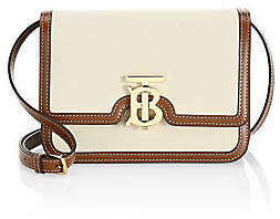 Burberry Women's Small TB Canvas & Leather Crossbody Bag