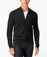 Alfani Men's Quilted-Front Zip Cardigan, Created for Macy's