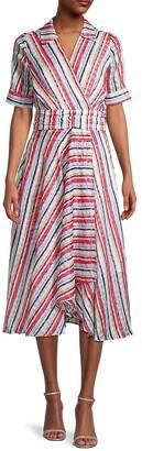 Valarie Watercolor Stripe Dress