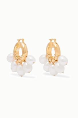 Eliou Kavala Gold-plated Pearl Earrings