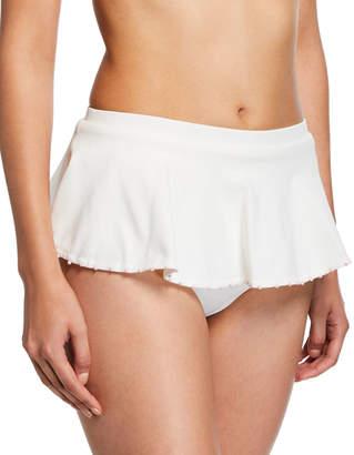 Marysia Swim French Gramercy Ruffled Solid Swim Bikini Bottoms