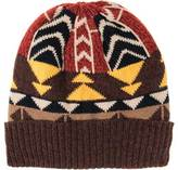 Muk Luks Women's Colorblock Geo Knit Cuff Cap