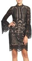Bardot Women's 'Emmie' Bell Sleeve Lace Sheath Dress