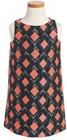 Milly Minis Girl's Diamond Pattern Jacquard Shift Dress