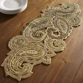 """Pier 1 Imports Majestic Paisley Beaded Table Runner - 38"""""""