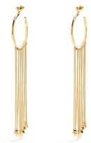 Chloé Meg fringed-drop hoop earrings