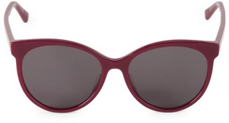 Bottega Veneta 55MM Oval Sunglasses
