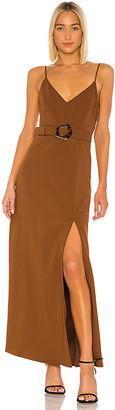 Nicholas High Slit Slip Gown