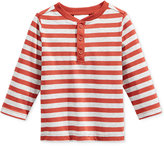 First Impressions Baby Boys' Long-Sleeve Striped Henley T-Shirt, Only at Macy's