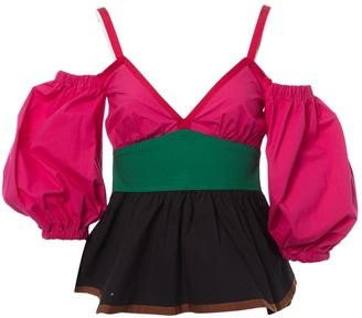 Isa Arfen Multicolour Cotton Top for Women