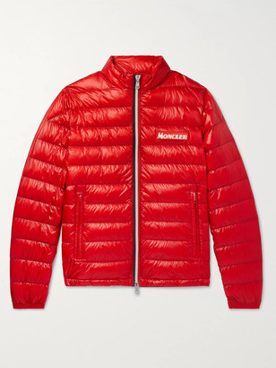 Moncler Quilted Glossed-Shell Down Jacket - Men - Red