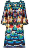 Mary Katrantzou Shea Printed Silk-faille Dress - Blue