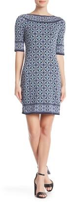 Max Studio Mixed Print Sheath Dress