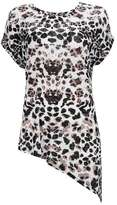 Wallis Animal Print Asymmetric Top