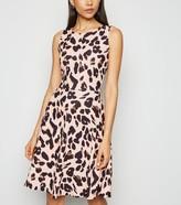 New Look Missfiga Leopard Print Skater Dress