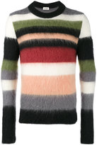 Saint Laurent Striped mohair jumper - men - Polyamide/Mohair/Wool - M