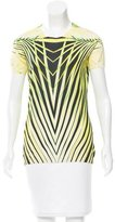 Roberto Cavalli Abstract Print Knit Top