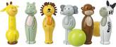 Orange Tree Toys Safari wooden skittles