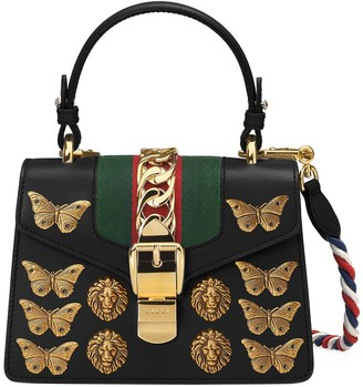 Gucci Sylvie animal studs leather mini bag