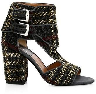 Laurence Dacade Rush Ankle-Buckle Tartan Sandals