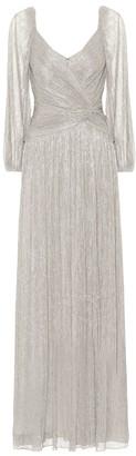 Jonathan Simkhai Adele plisse lame gown