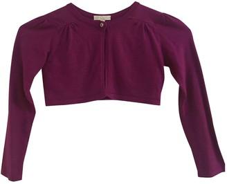 Gucci Purple Cotton Knitwear